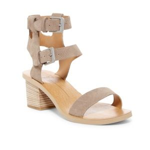 Dolce Vita West Sandal Taupe Suede Heel
